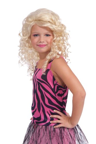 [Forum 80's Pop Star Child Wig, Blonde] (Womens Material Pop Star Costumes)