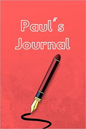 pauls journal 6 x 9 white blank lined paper blank letter format journal to write in trueheart designs 9781724290267 amazoncom books