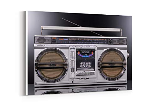 9000 Stereo - Gf 9000 Classic Sharp Tape Retro Radio Stereo - Canvas Wall Art Gallery Wrapped 18