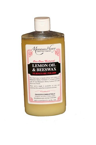 Lemon Oil with Beeswax Wood Furniture Polish and Conditioner, Feed, Protect and Restore Heirlooms, 16 oz.