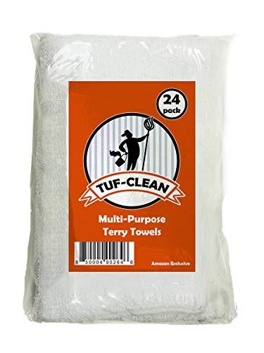 - Tuf-Clean 51744 Multi-Purpose Terry Towel, 100% Cotton, White, 14