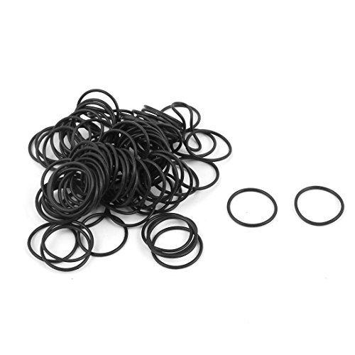 DealMux 100 piezas Negro 16 mm x 1 mm Caucho de nitrilo NBR O Anillo de sellado de aceite ojales DLM-B01N8S04ND