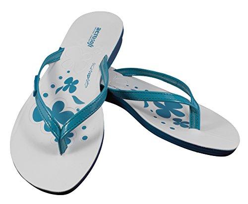 Aero Original Komfort Turkos Blomma Print Sandaler