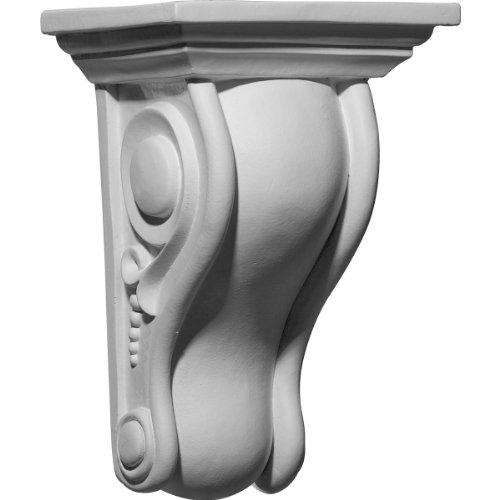 (Ekena Millwork COR06X05X10HO-CASE-4 6 5/8 inch W x 5 1/4 inch D x 10 inch H Holmdel Smooth Scroll Corbel (4-Pack),)