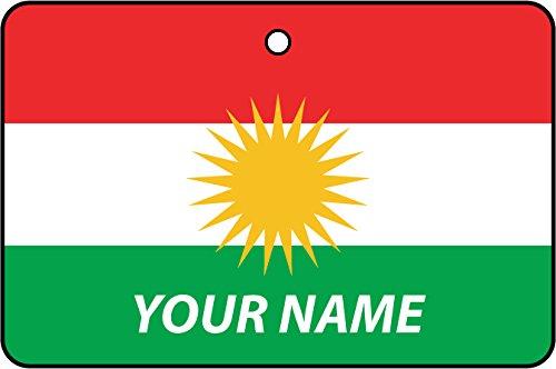 Ambientador De Coche Personalizado Bandera KURDISTAN FLAG