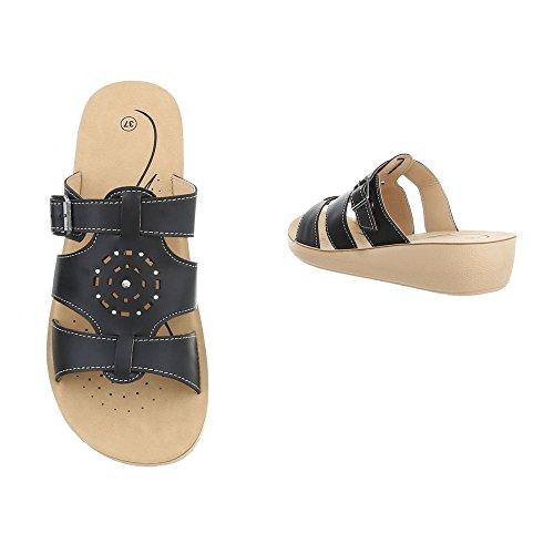 Schuhtraum Sandalen Damen Clogs Pantoletten Praxis Apotheke Hausschuhe Slipper Sandaletten ST825 Schwarz
