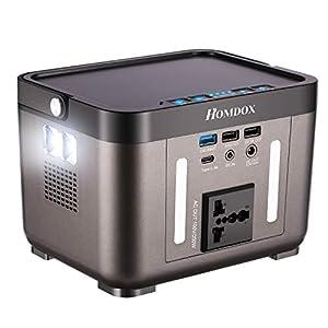 Homdox ポータブル電源 大容量 60000mAh/222Wh 家庭用蓄電池 純正弦波 8ヶ月超長待機