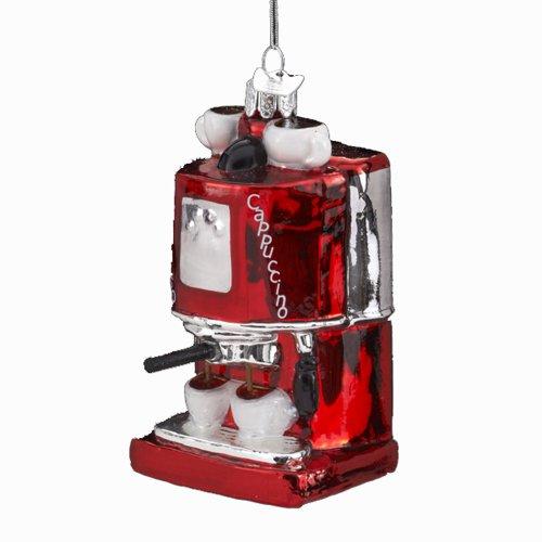 Noble Gems Kurt Adler 4-Inch Glass Espresso/Cappuccino Machine Ornament