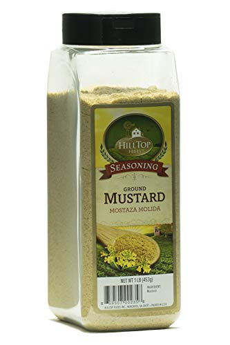 Hilltop Foods Natural Ground Mustard-Seasoning Spices 1 Lb. Container by HillTop Foods Inc.