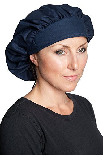 Fiumara Apparel Professional Banded Bouffant Scrub Hats Great for Long Hair - Black | Made in USA |