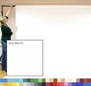 Creativity Backgrounds - Papel de fondo para estudio fotográfico (2,72 x 11 m, 180 g/m2), color blanco