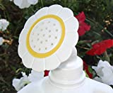 Gadjit Sprinkle Spout Daisy-Shaped Sprinkler Head - Snaps onto Most Plastic Gallon and Half-Gallon Jugs, Turning Them into Watering Cans (White & Yellow)