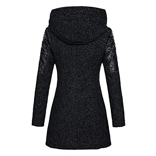 À Zippé Patchwork Taille Pas Grand Parka Susenstone La Hooded Mode Chaud Manteau Jacket Cher Capuche Femme Noir Coat Hiver w6xS7YqAS