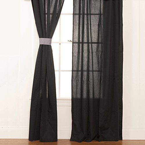 One Grace Place Teyo's Tires Drapes, Black by One Grace Place