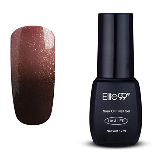 Elite99 Temperature Color Change Nail Polish, Thermal Color-Changing UV LED Soak Off Nail Art Gel Polish, Professional Salon Manicure Pedicure 7ML