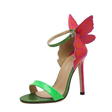 PU UK6 CN40 Amarillo Verde US8 Plata Casual sandalias Las verano talón 5 peep Otros toe EU39 5 de mujeres Stiletto Otros 1qYRwU