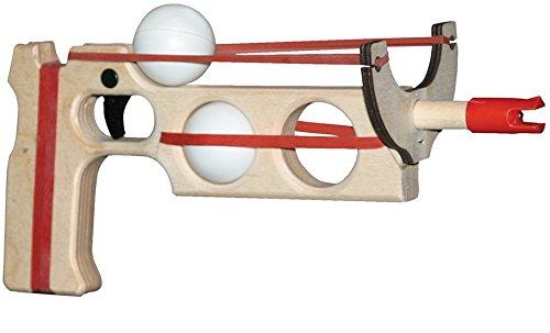 Magnum Enterprises Military Ping Pong Ball Shooter (3-Ball) Combo Single Shot Rubber Band Gun