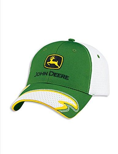 John Deere Green Cap White Athletic Mesh Back and Visor Accent Hat