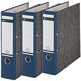 Leitz 310305035 - Clasificador de anillas, lomo ancho, 3 unidades, 180A, A4, color azul