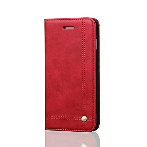 iPhone 5S Case Aroko Leather Case Classic iphone SE Flip Leather Wallet Cases Slim Folio Book Cover with Credit Card Slots Cash Pocket Stand Holder Drop Magnet Closure for iPhone SE/5S/5