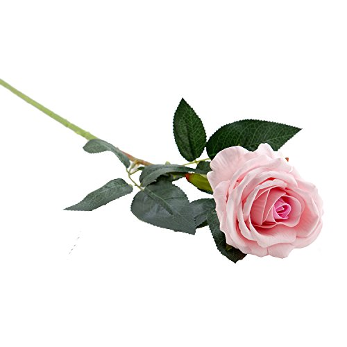Pink Velvet Artificial Faux Fake Silk Rose Flower for Bouquets, Weddings, Valentines, Wreaths, & Crafts, Single Stem By Royal Imports (1 Dozen) 30