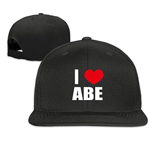 adult-i-love-abe-i-love-abraham-heart-flat-brim-hat-black