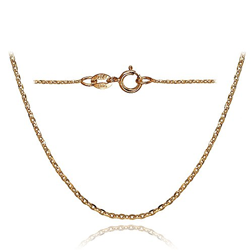 Bria Lou 14k Rose Gold 1.4mm Italian Diamond-Cut Cable Chain Necklace, 20 Inches by Bria Lou