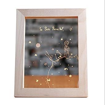 lampe cadre photo cadeaux de No/ël A LUNYILampe de cadeau danniversaire cr/éative nordique le petit prince pour voir la lumi/ère de nuit LED coucher de soleil