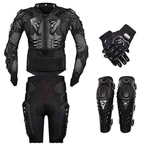 FULUOYIN Motorrad Protektorenjacke Anzug Panzer Protektorenhemd mit Hose+ kniechüzer+ Handschuhe für Radfahren Reiten…