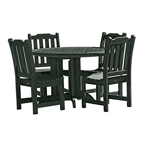 Highwood 5 Piece Lehigh Round Dining Set, Charleston Green