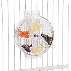"""Paradise Toys Bird Creative Foraging System Wheel, Spins with Food Inside, 6"""" Diameter"""