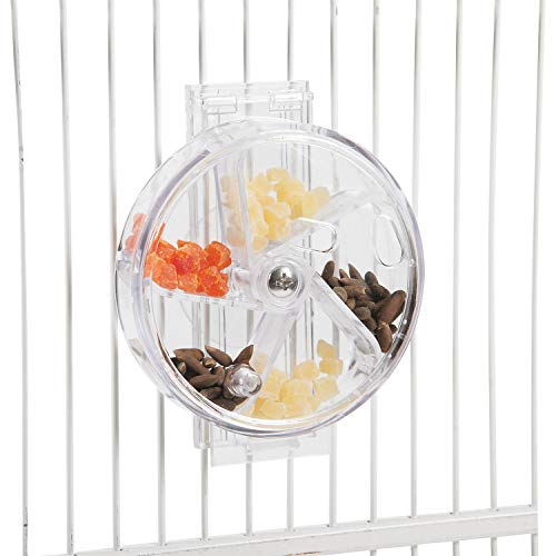 """Paradise Toys Bird Creative Foraging System Wheel, Spins with Food Inside, 6"""" Diameter -"""