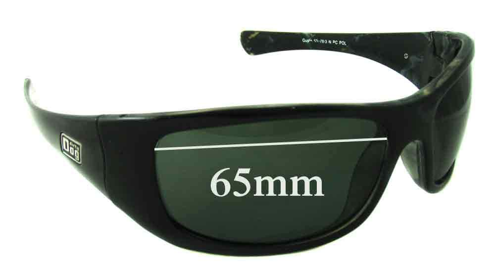 SFX Replacement Sunglass Lenses fits Dirty Dog Gusto 65mm Wide