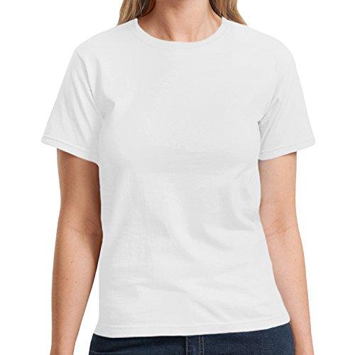 Donna Mezza T Liberty Bianco manica shirt Hanes w40xq166