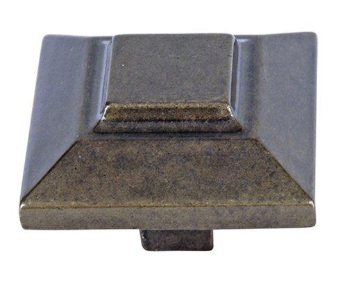 Atlas Homewares 4002-BB 1-1/2-Inch The Classics Collection Trocadero Beveled Knob, Burnished Bronze