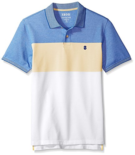(IZOD Men's Advantage Performance Short Sleeve Colorblock Polo, Sundress/Yellow, XX-Large )