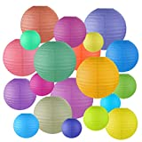 Miayon 20PCS Paper Lanterns, (Random Color 5 Sizes), Hanging Decorations for Home Parties, and Weddings,Baby Shower