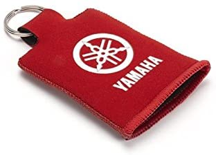 Yamaha - Llavero protector para Yamaha N13NK00500C0 original, funda de neopreno, funda para la llave de la moto, scooter, bolso, baúl antiarañazos, accesorio para llavero, soporte para tres llaves: Amazon.es: Coche y
