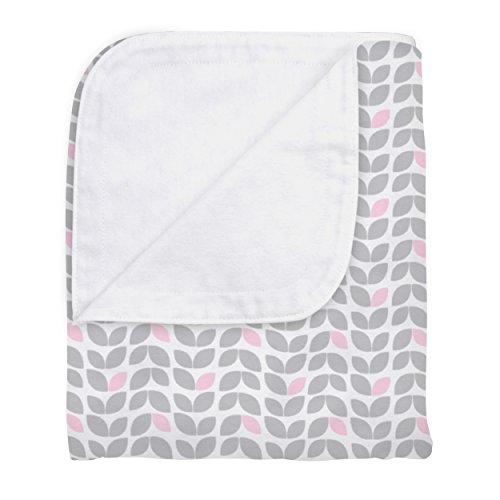 Kushies Unisex Infant and Toddler Reversible 100% Cotton Flannel Crib Blanket (Grey (Kushies Cotton Blankets)