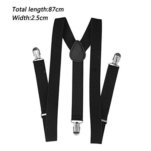 Dailyinshop Bretelle regolabile Pantaloni unisex con elastico Bretella Y-back nera Y