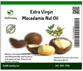 Macadamia Nut Oil - 100% Pure and all Natural 16 Oz - 100% cold pressed - Vegan