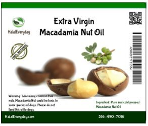 Sq Nut (Macadamia Nut Oil - 100% Pure and all Natural 16 Oz - 100% cold pressed - Vegan)