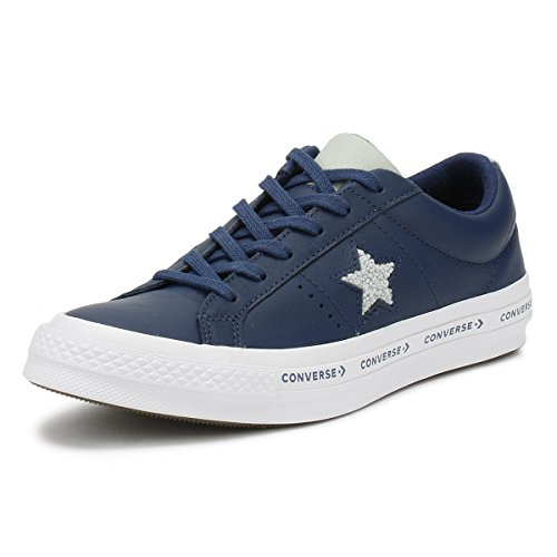 Converse One Star Ox Pelle Premium Navy / Bamboo Secco / Bianco