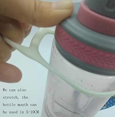 zaowuren Silicone Circle Hook Water Bottle Carrier, Mineral Water Bottle Holder with Strap for Camping Hiking Outdoor Travel