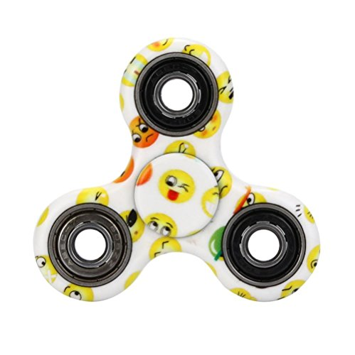 Ouneed ® Fidget Hand Spinner Juguete-Tri-Spinner Fidget Spinner Camuflaje EDC Focus Toys Regalo (Blanco)