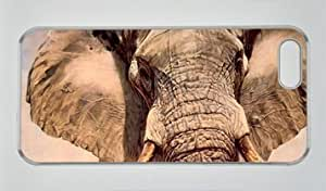 Animal Elephant'Nose DIY Hard Shell Transparent iphone 5/5s Case Perfect By Custom Service