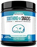 PetHonesty Calming Treats for Dogs - All-Natural Soothing Snacks with Hemp + Valerian Root, Stress & Anxiety Relief, Calming Aid for Dogs Helps Travel, Separation, Car Rides, Thunderstorms, 90ct