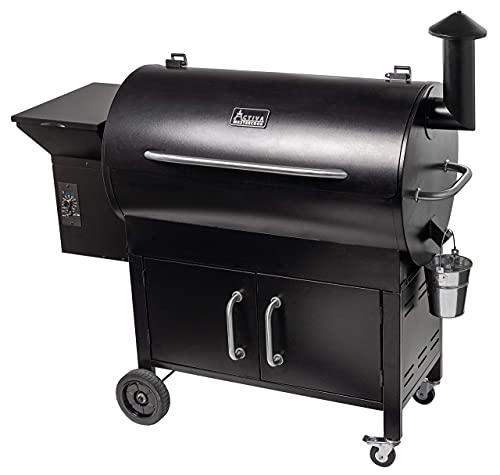 ACTIVA Grill Pelletsmoker EL Salvador XXL Grillwagen Pellet Smoker BBQ Barbeque Räuchern Smoken Räucherofen, Pellet…