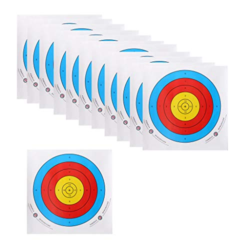 2019 New12 Pieces Professional Archery Target Paper for Recurve Bow Longbow 43x43cm Recurve Bow Target Paper