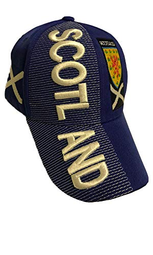 - Baseball Caps Hats with Five 3D Embroideries – Countries of Europe (Country: Scotland)
